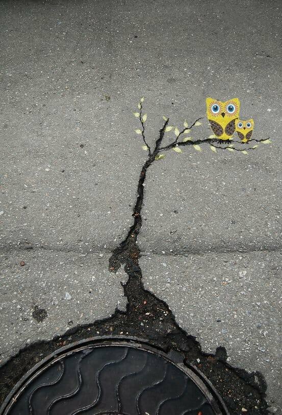 Street Art karya Alexey Menschikov di Russia