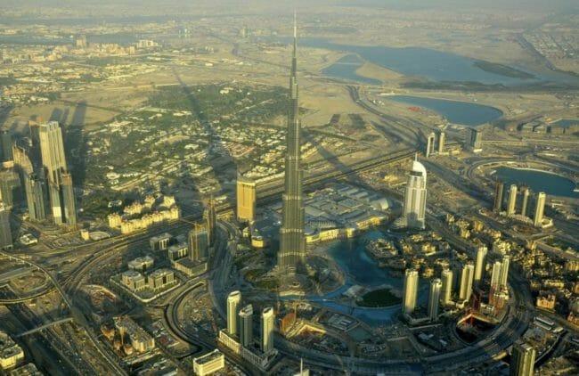 Pandangan udara dari Burj Dubai