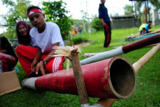 Meriam dari Bambu