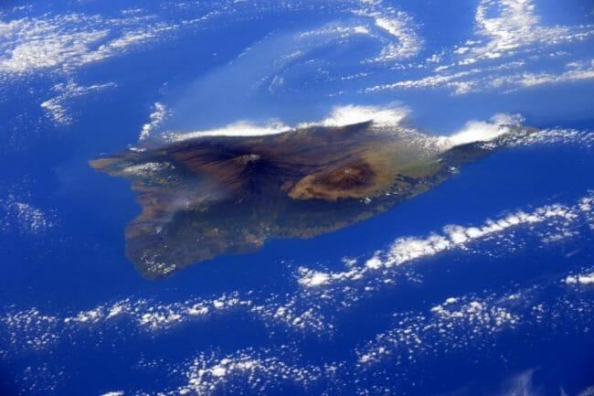 Pulau Hawai dari atas