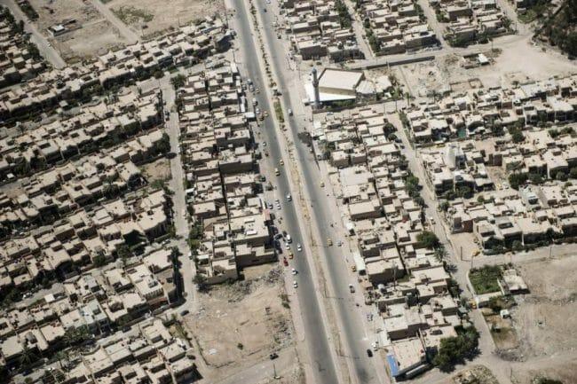 Rumah-rumah dan jalan di bagdad