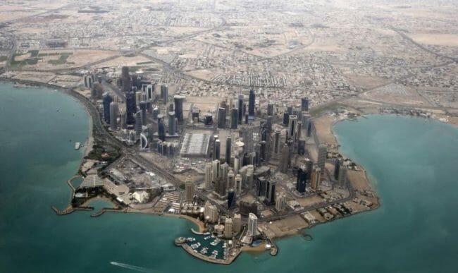 Wilayah Doha Qatar dari udara