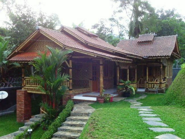 Gambar Rumah Sederhana dengan Bahan Bambu