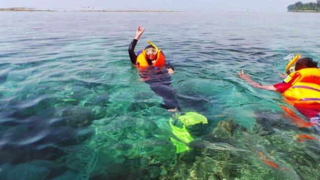 Wahana Air di Pulau Pari