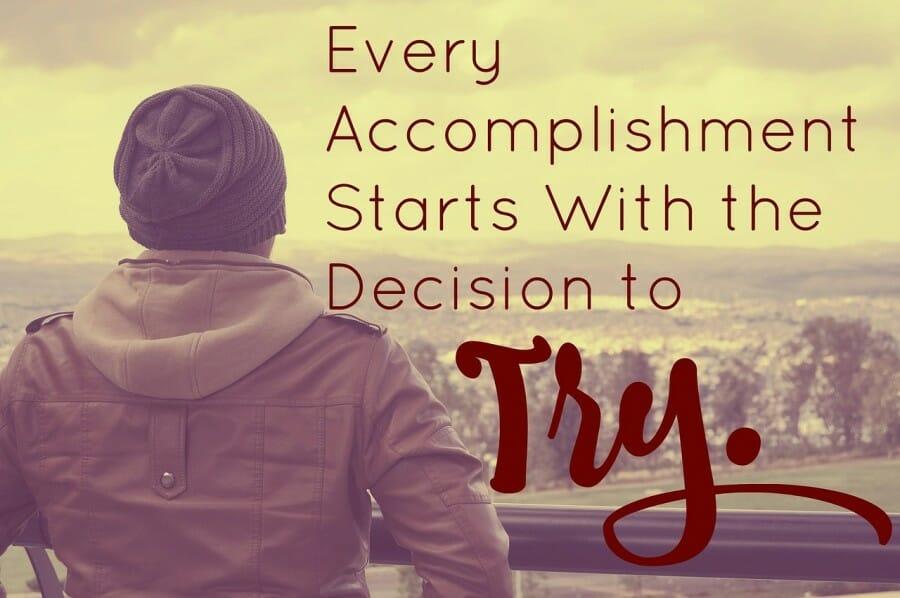 kesuksesan dimulai dengan sebuah langkah awal