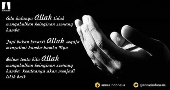 tak selamanya doa kita ditolak